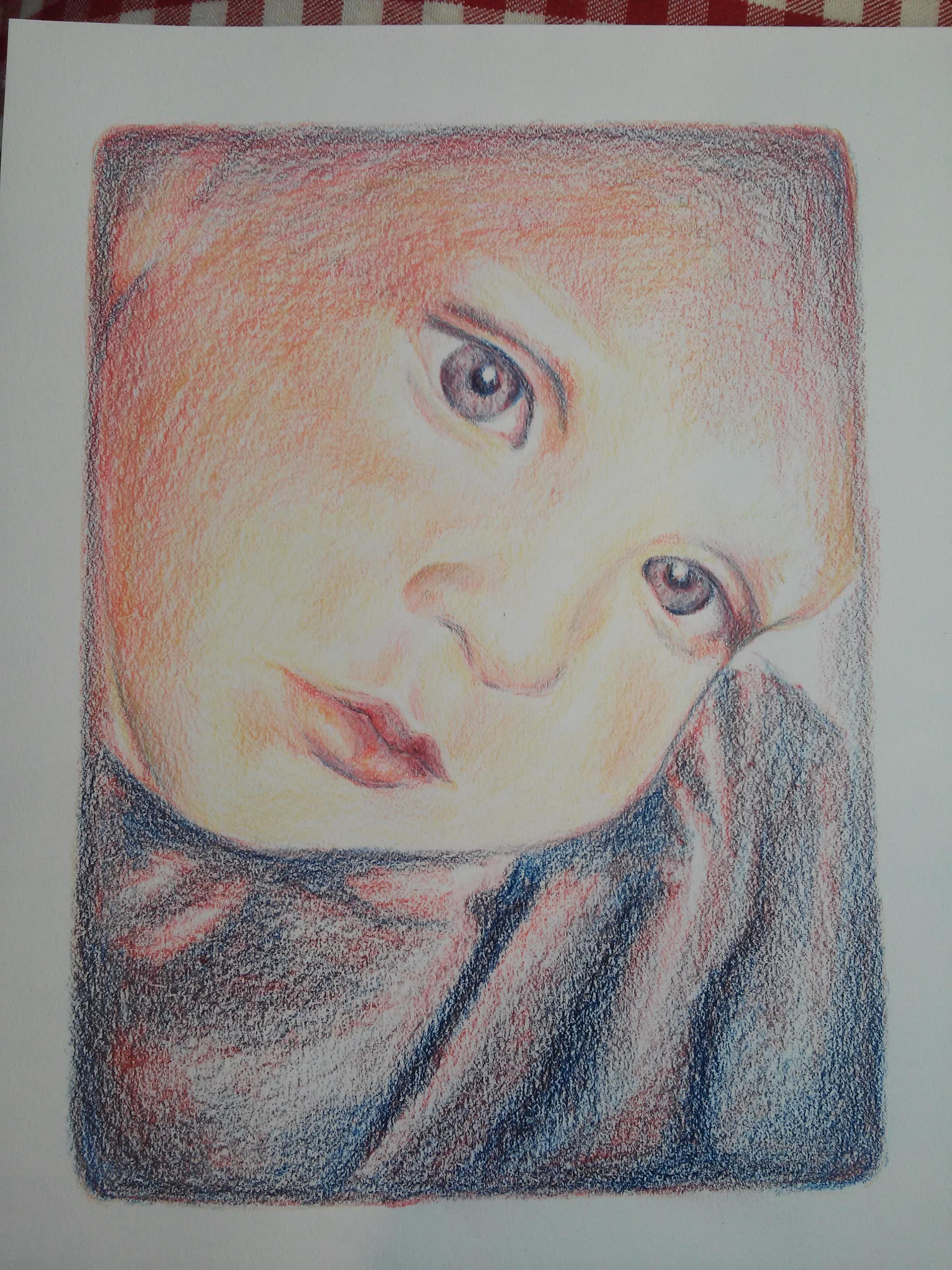 rita med färgpennor